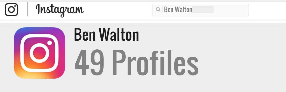 Ben Walton: Background Data, Facts, Social Media, Net ...