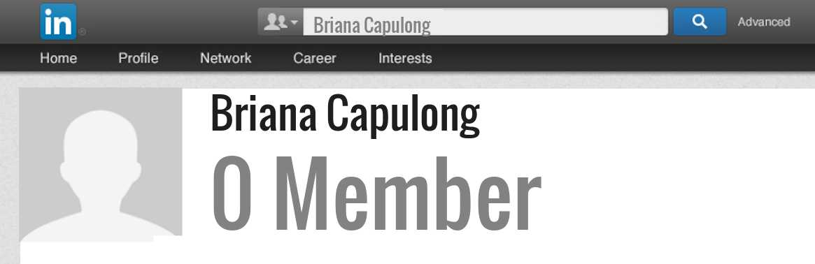 Briana Capulong linkedin profile