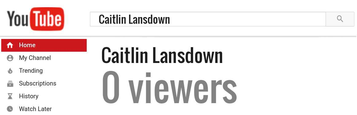 Caitlin Lansdown youtube subscribers