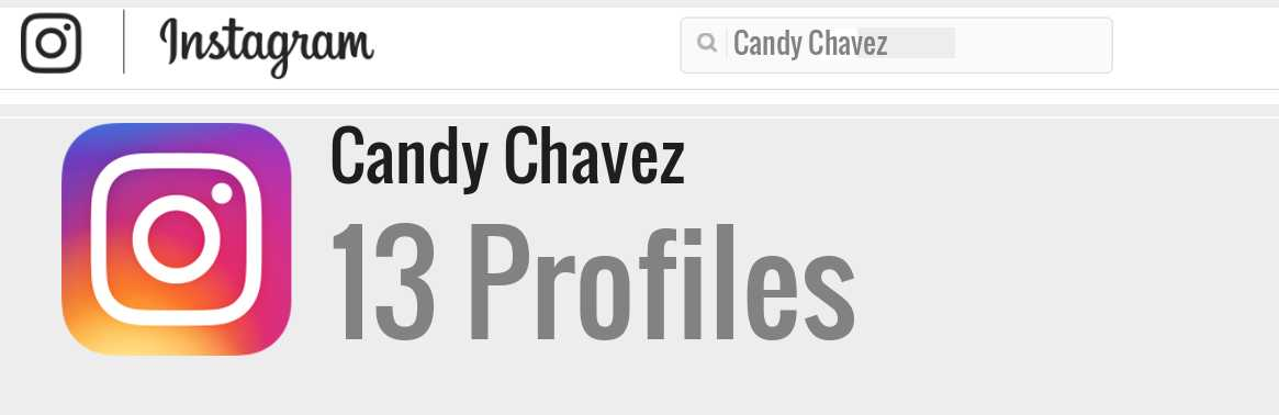 Candy Chavez instagram account