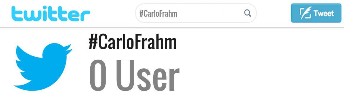 Carlo Frahm twitter account