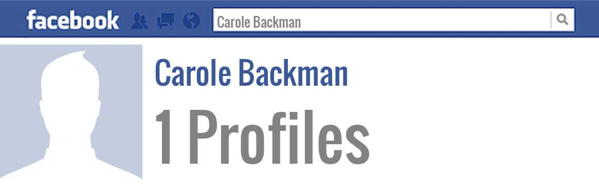 Carole Backman facebook profiles