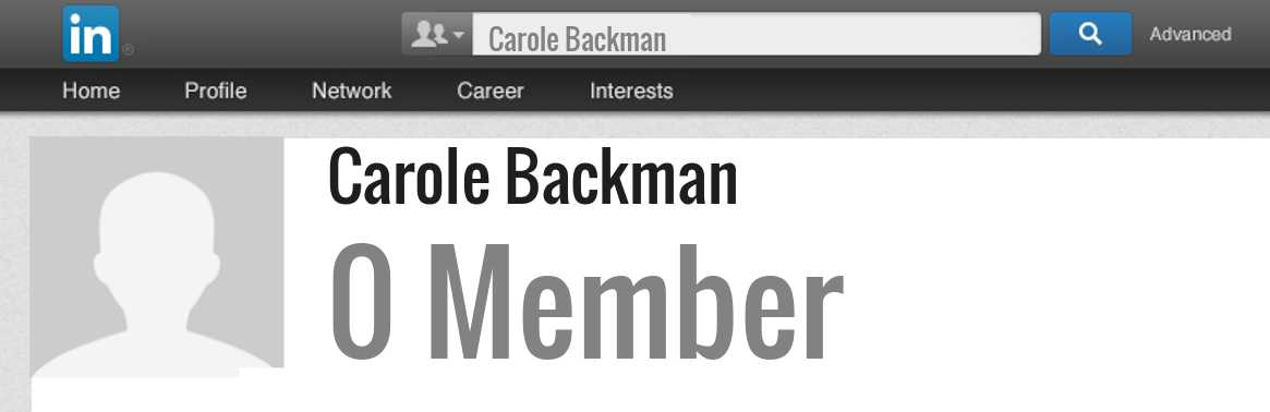 Carole Backman linkedin profile