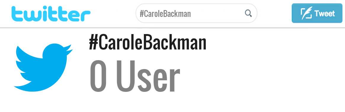 Carole Backman twitter account
