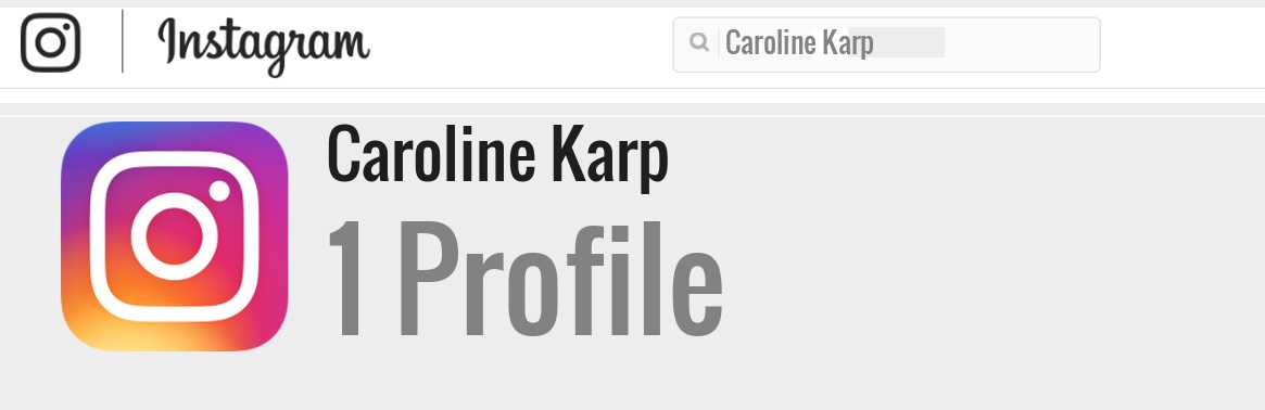 Caroline Karp instagram account