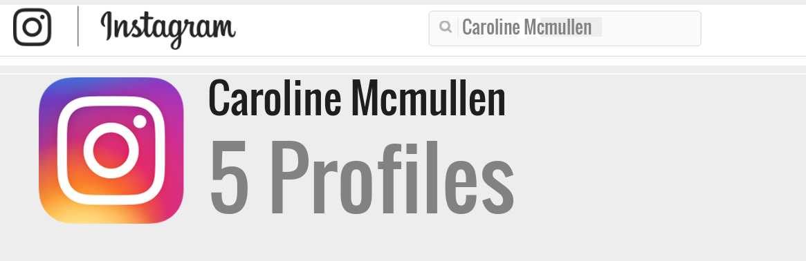 Caroline Mcmullen instagram account