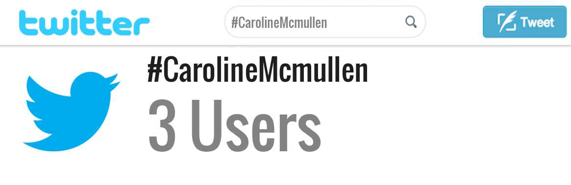 Caroline Mcmullen twitter account