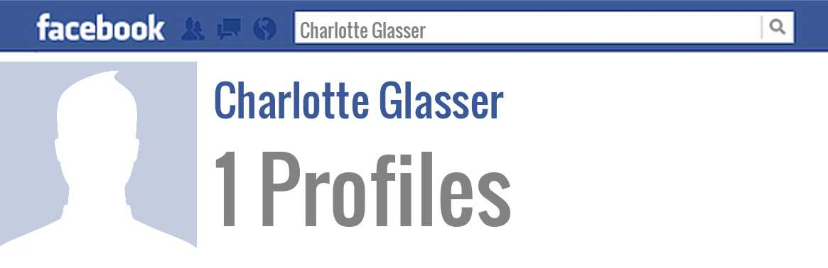 Charlotte Glasser facebook profiles