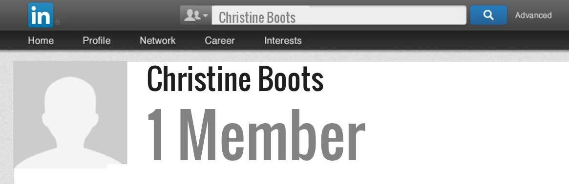 Christine Boots linkedin profile