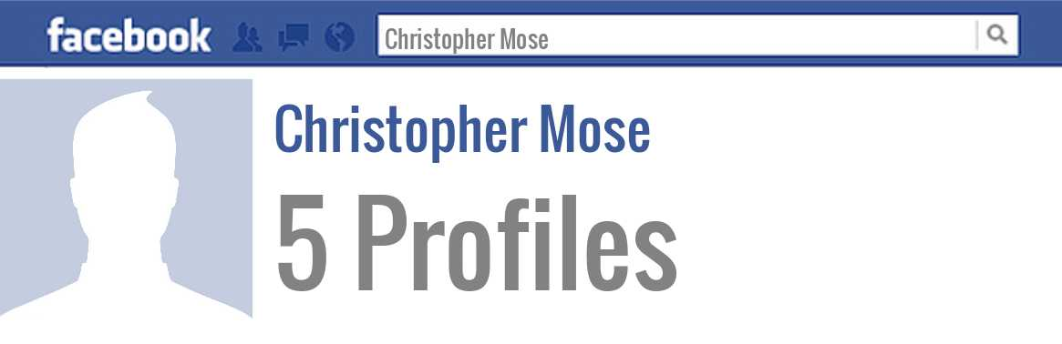 Christopher Mose facebook profiles