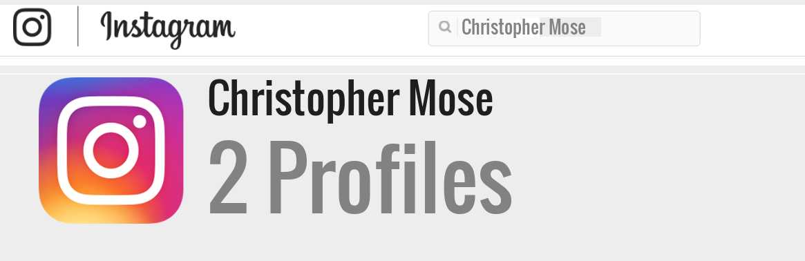 Christopher Mose instagram account
