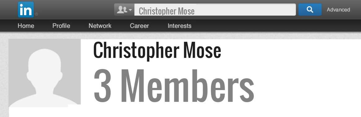 Christopher Mose linkedin profile