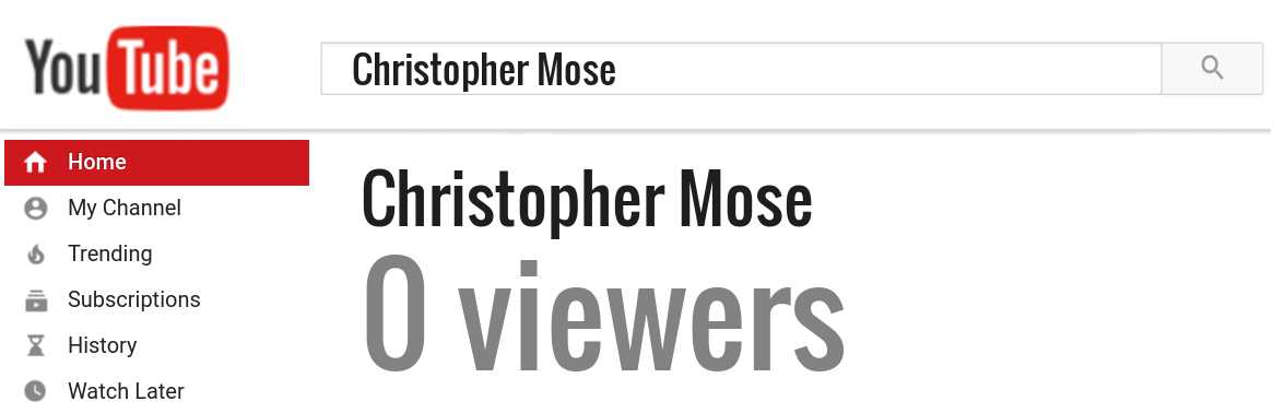 Christopher Mose youtube subscribers
