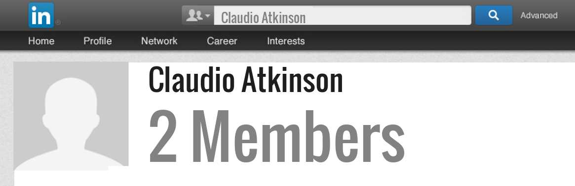 Claudio Atkinson linkedin profile
