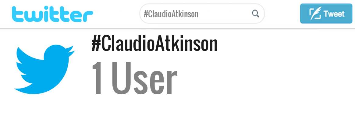 Claudio Atkinson twitter account