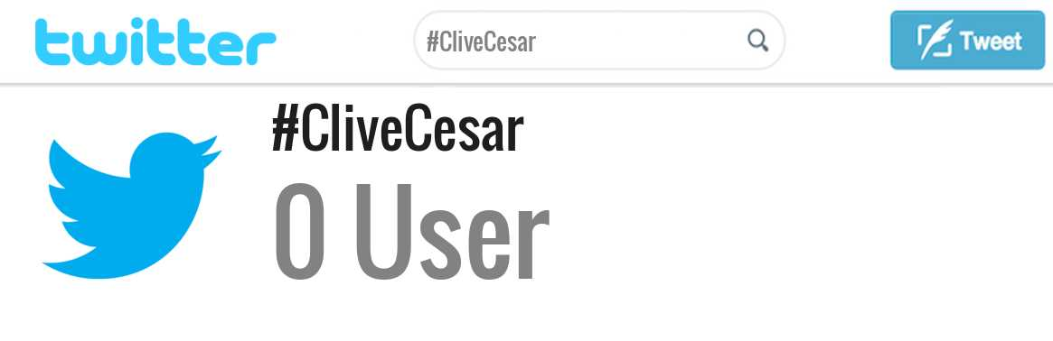 Clive Cesar twitter account