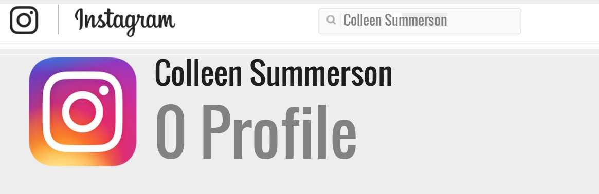 Colleen Summerson instagram account
