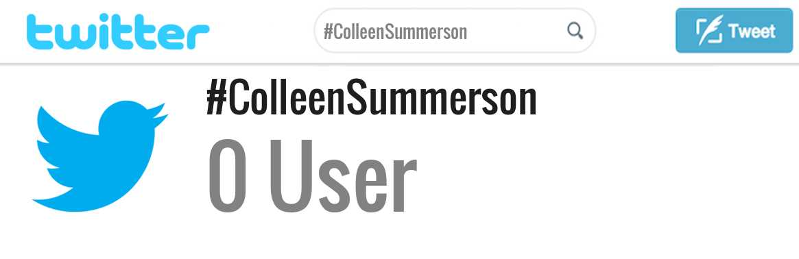 Colleen Summerson twitter account