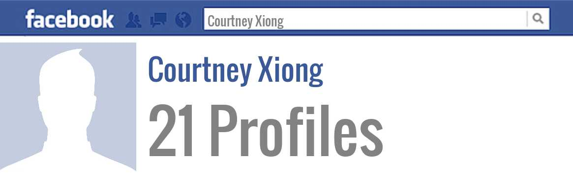 Courtney Xiong facebook profiles