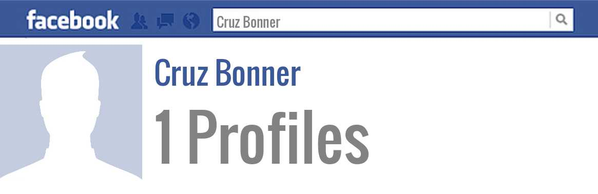 Cruz Bonner facebook profiles