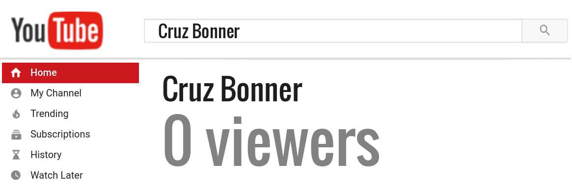 Cruz Bonner youtube subscribers