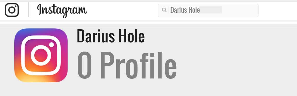 Darius Hole instagram account