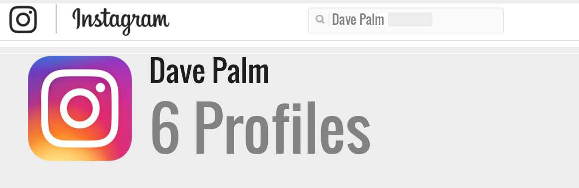 Dave Palm instagram account
