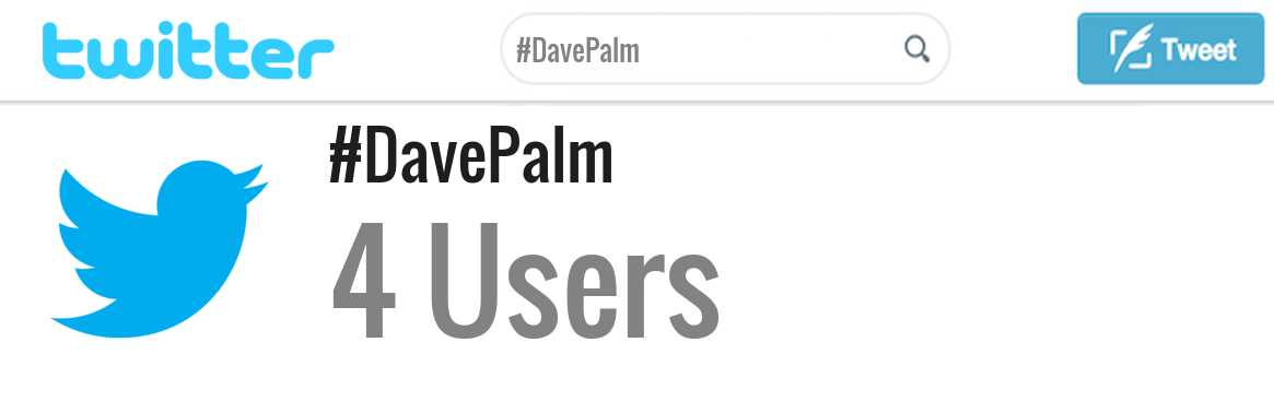 Dave Palm twitter account