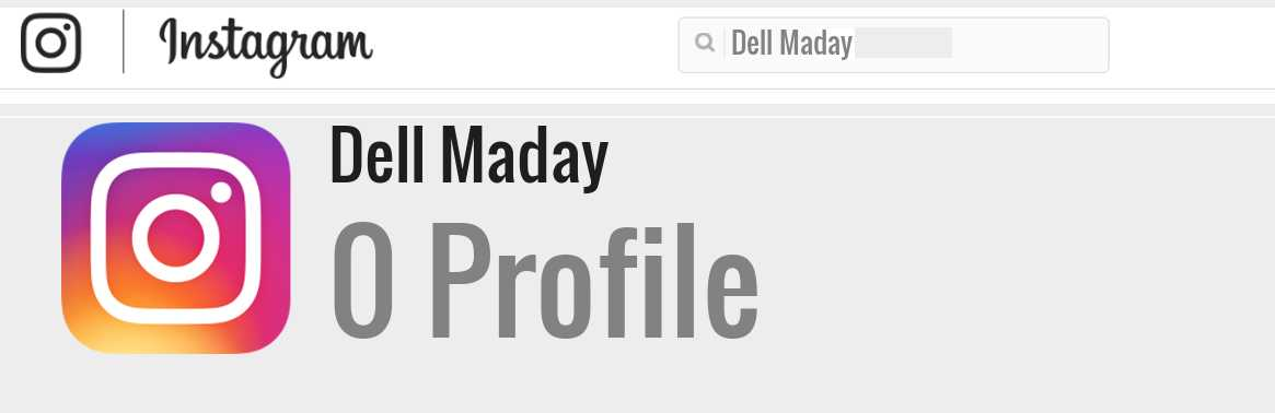 Dell Maday instagram account