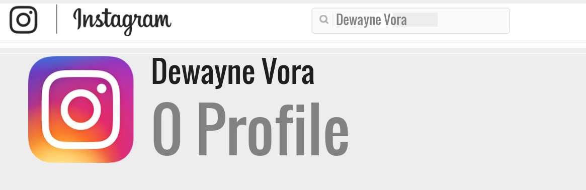 Dewayne Vora instagram account