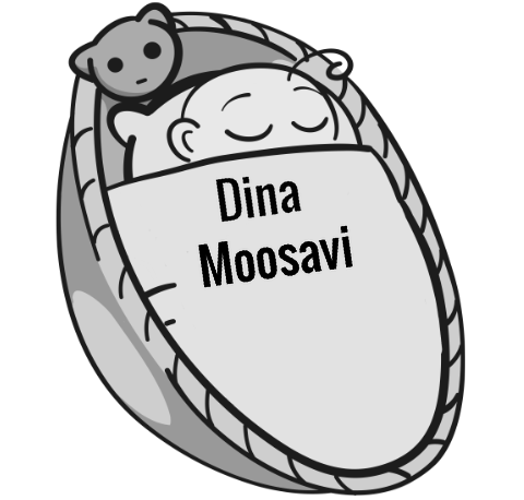 Dina Moosavi sleeping baby