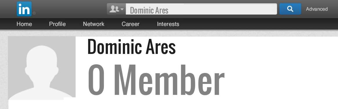 Dominic Ares linkedin profile