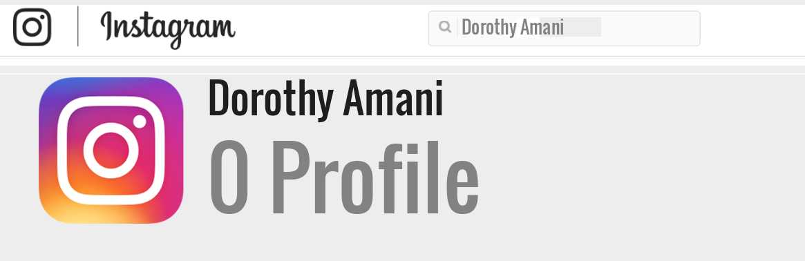 Dorothy Amani instagram account