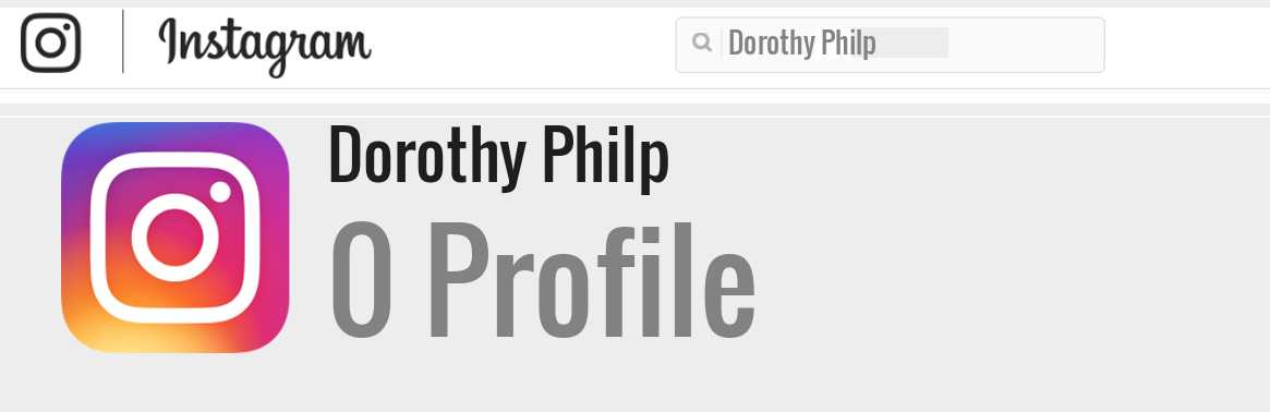 Dorothy Philp instagram account