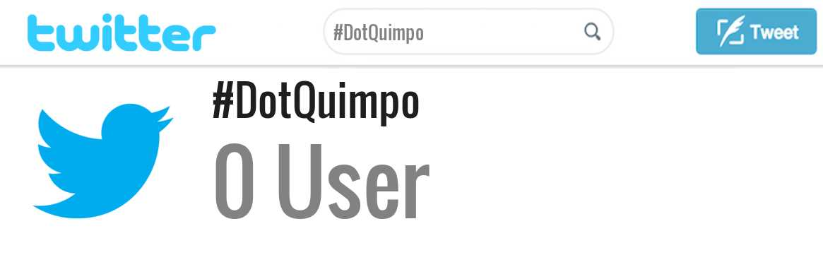 Dot Quimpo twitter account