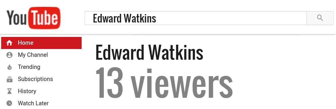 Edward Watkins youtube subscribers