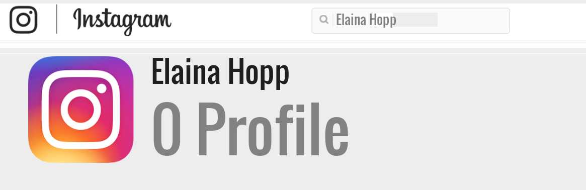 Elaina Hopp instagram account