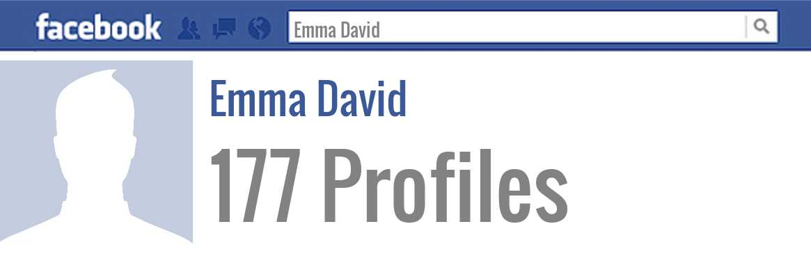 Emma David facebook profiles