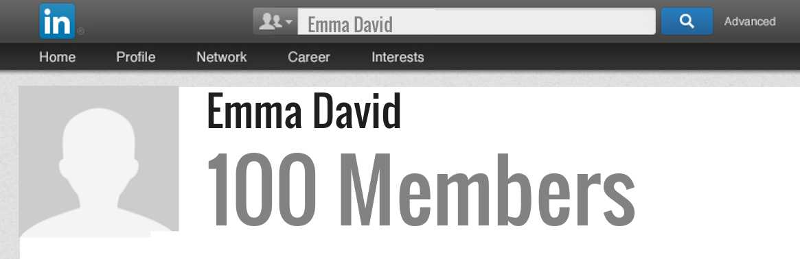 Emma David linkedin profile