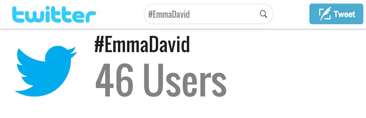 Emma David twitter account
