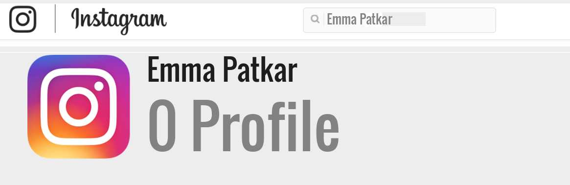 Emma Patkar instagram account