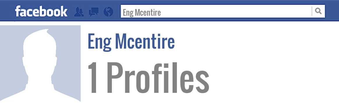 Eng Mcentire facebook profiles