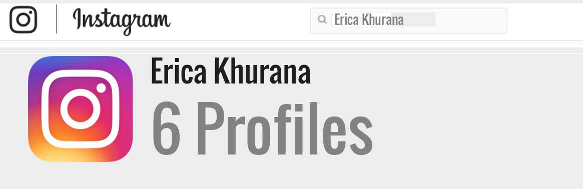 Erica Khurana instagram account
