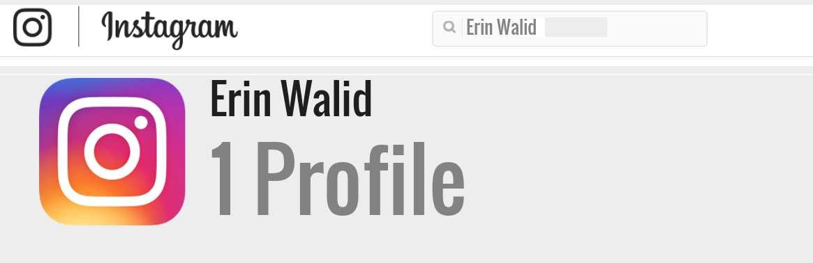 Erin Walid instagram account