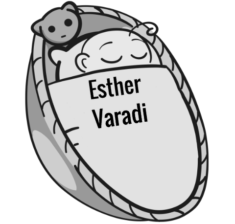 Esther Varadi sleeping baby