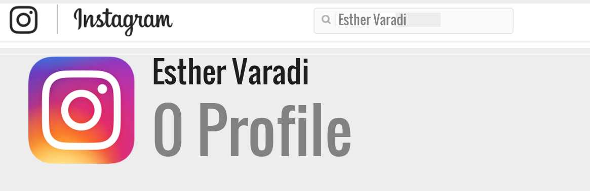 Esther Varadi instagram account