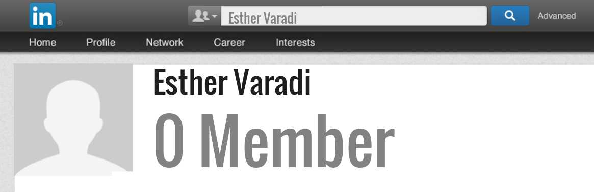 Esther Varadi linkedin profile