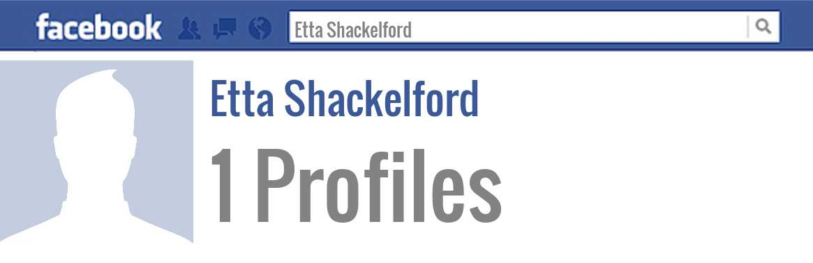 Etta Shackelford facebook profiles