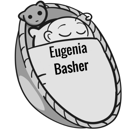 Eugenia Basher sleeping baby