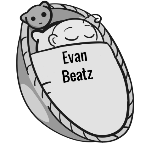 Evan Beatz sleeping baby